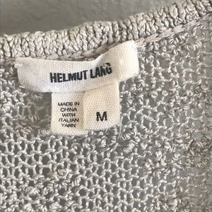 Helmut Lang Tops - Helmut Lang | Gray Open Work Silk Knit Tank Top